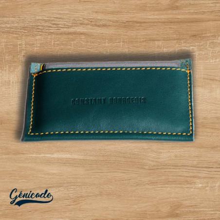 Porte carte en cuir made in France personnalisé