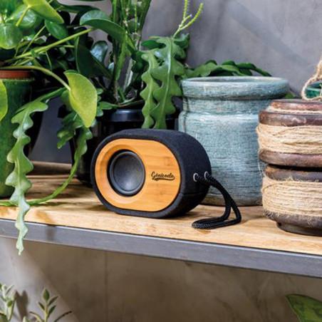 Enceinte Bluetooth publicitaire en bambou