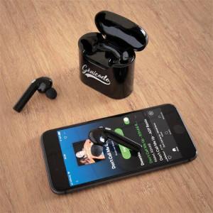 écouteurs sans fil Bluetooth et boitier de recharge
