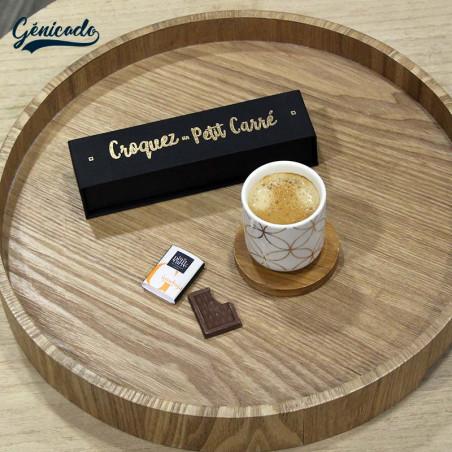 Coffret chocolat personnalisé made in France avec café