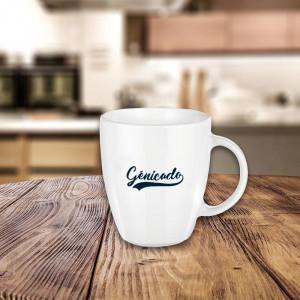 mug personnalisé incurvé blanc