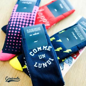 semainier de chaussettes personnalisé