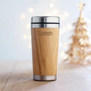 mug de voyage personnalisé en bambou