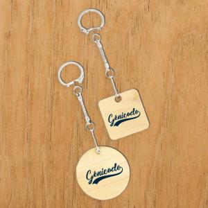 joli porte clé à graver avec logo