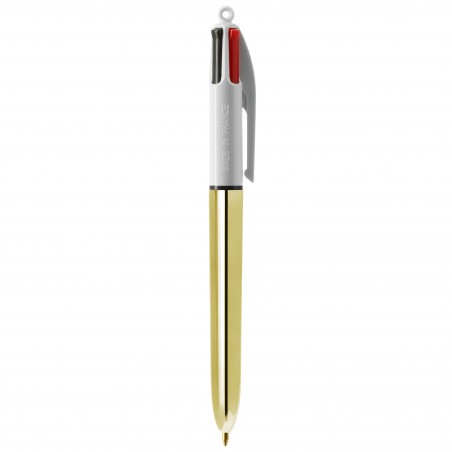 Stylo 4 couleurs Shine Bic Or