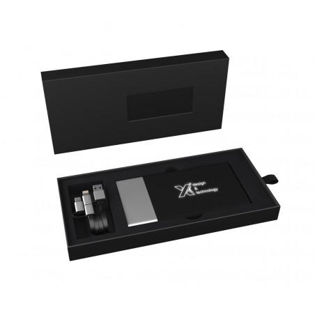 Packaging élégant pour batterie de secours avec logo lumineux