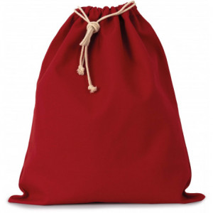 Pochon personnalisé rouge / noir à cordon