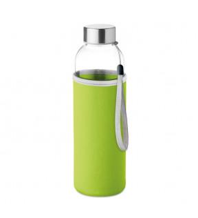 Bouteille en verre 500 ml avec fourreau personnalisé