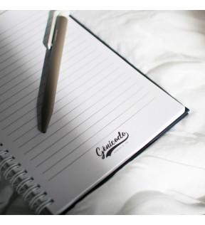 carnet a spiral et pages intérieures personnalisable  avec logo