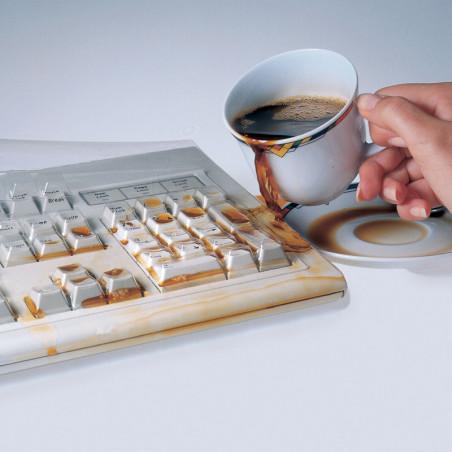 Protège clavier d'ordinateur transparent lavable hygiènique