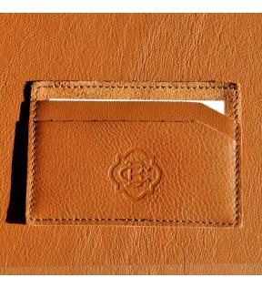 Porte-carte cuir personnalisé Arnold avec logo embossé