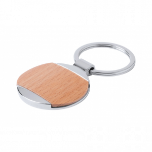 porte-clés promotionnel bois rond