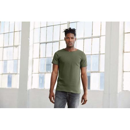 T-shirt entreprise homme col à bords francs