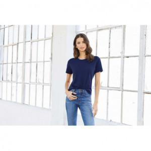 T-shirt col rond femme -...