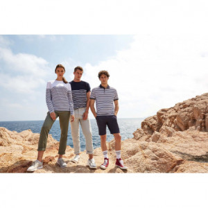 T-shirt breton à manches...