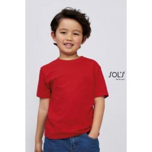 T-shirt enfant col rond à...