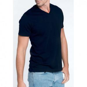 T-shirt col v manches...