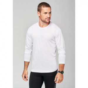 T-shirt blanc sport manches...