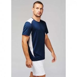 T-shirt sport bicolore -...