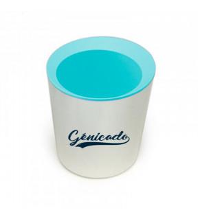 pot à crayons publicitaire Made in France bleu