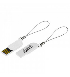 Clé usb Made in France à personnaliser blanche