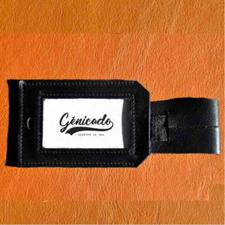 étiquette bagage en cuir personnalisable