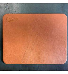 tapis de souris en cuir fabriqué en France personnalisable avec logo