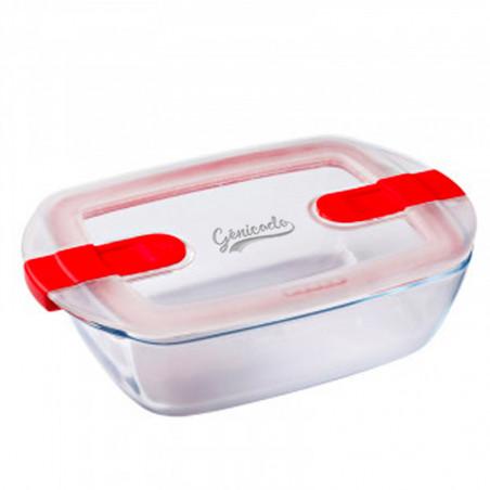 Plat micro onde rectangulaire en verre Pyrex à personnaliser avec logo