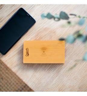 Batterie de secours à induction publicitaire en bambou