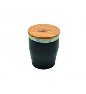 Mug isotherme design personnalisable avec couvercle bambou
