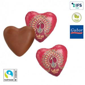 Coeur en chocolat promotionnel