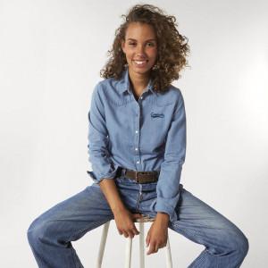 Chemise en jean femme organique àpersonnaliser