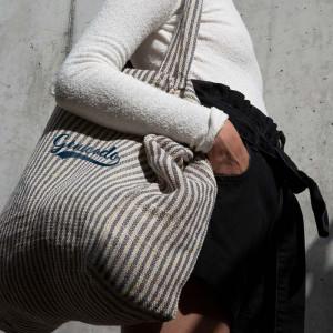 Tote bag personnalisé vintage à rayures en juco