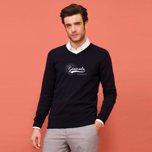 Pull col V pour homme personnalisable