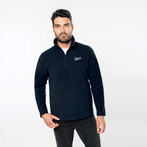 Polaire personnalisée col 3/4 polyester