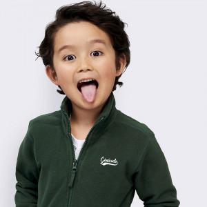 Veste polaire personnalisée zippée enfant anti-boulochage