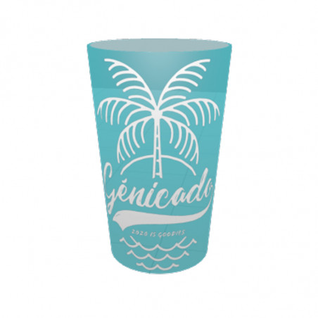 Gobelet plastique personnalisable turquoise 30cl- made in europe