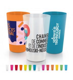 Gobelet plastique personnalisé 1 à 4 couleurs 30cl made in France