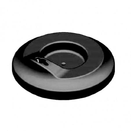 Couvercle de protection noir réutilisable pour gobelet