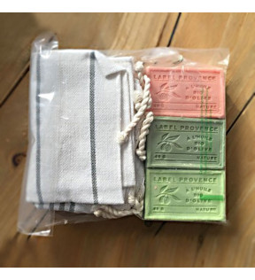 Coffret 3 savons et fouta Made in France