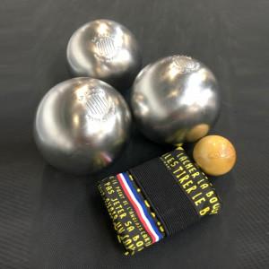 Pack boules de pétanques inox personnalisées