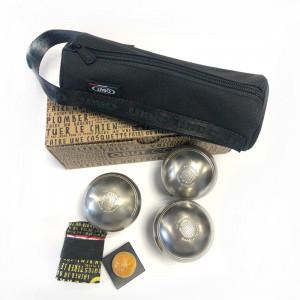 Pack boules de pétanques et trousse publicitaire