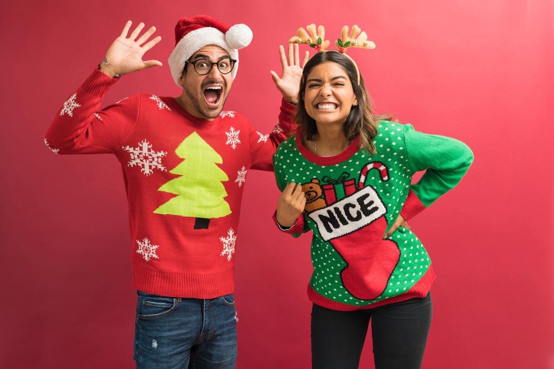 Mode du pull moche de Noël personnalisé