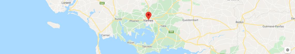 Carte localisation agence objets publicitaires Vannes