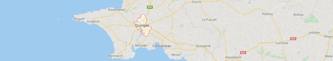 Carte localisation agence objets publicitaires Quimper