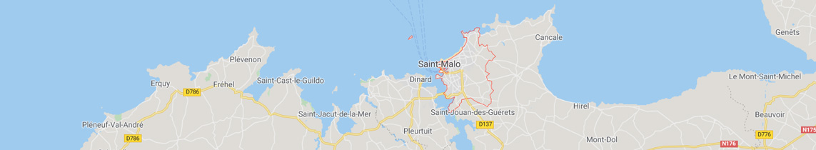 Carte localisation agence objets publicitaires St Malo