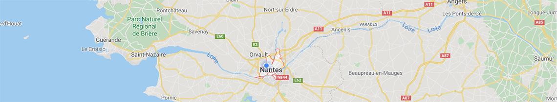 Carte localisation agence objets publicitaires Nantes