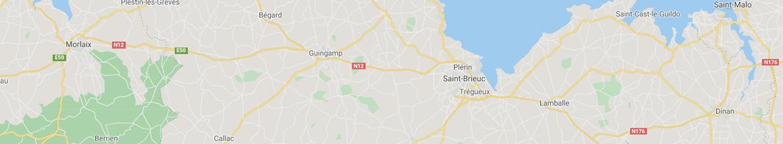 Carte localisation agence objets publicitaires St Brieuc
