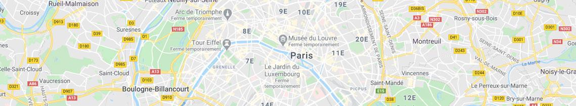 carte localisation agence objets publicitaires goodies paris
